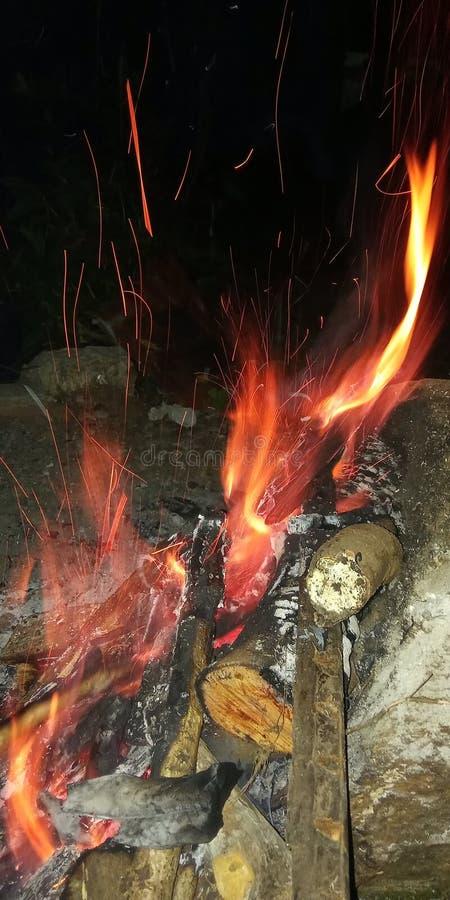 piękny tło od ogniska zdjęcie stock