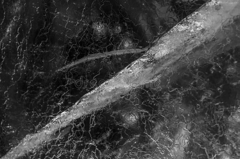 Piękny tło wizerunek szczegóły w lodzie przy zimą zdjęcia stock