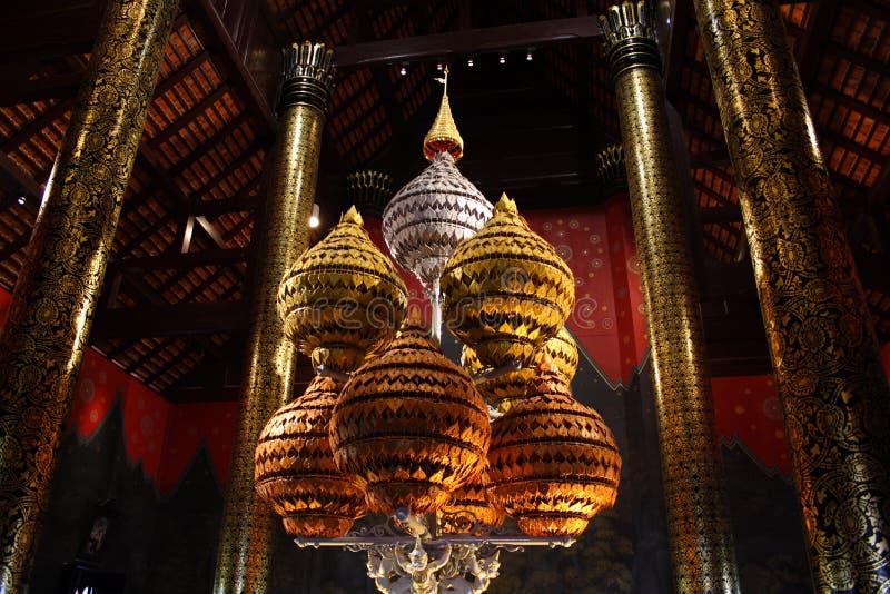 Piękny Tajlandzki handcraft w świątyni zdjęcia royalty free