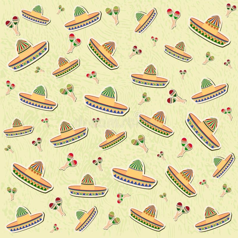 Piękny textured tło dla wakacyjnego cinco de Mayo bann