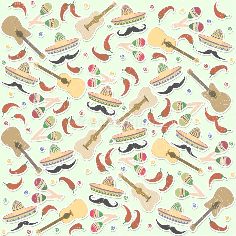 Piękny textured tło dla wakacyjnego cinco de Mayo na M