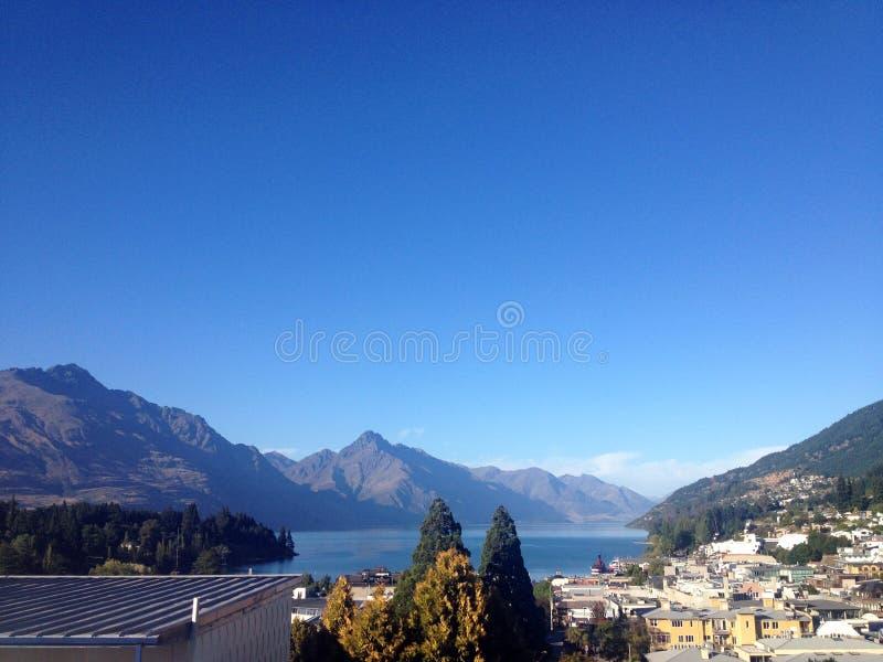 Piękny townscape w Nowa Zelandia zdjęcie stock
