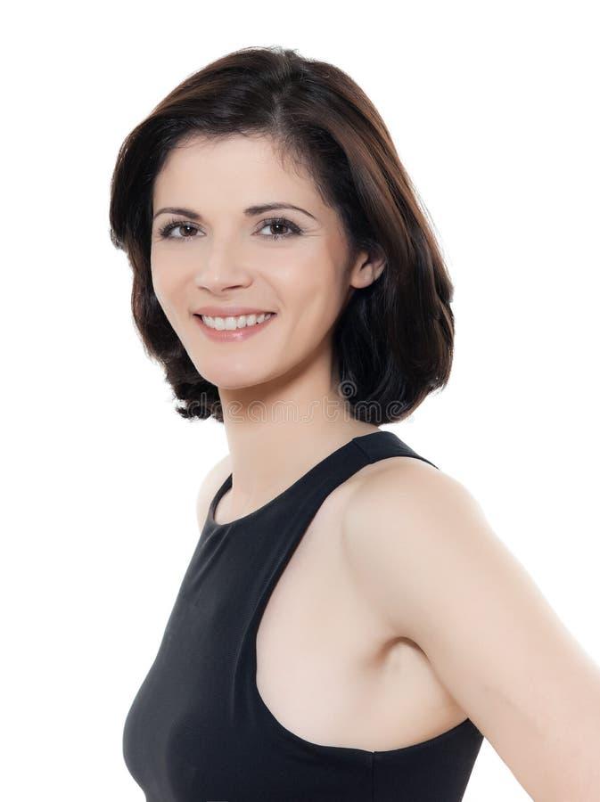 Piękny uśmiechnięty caucasian kobieta portret zdjęcia royalty free