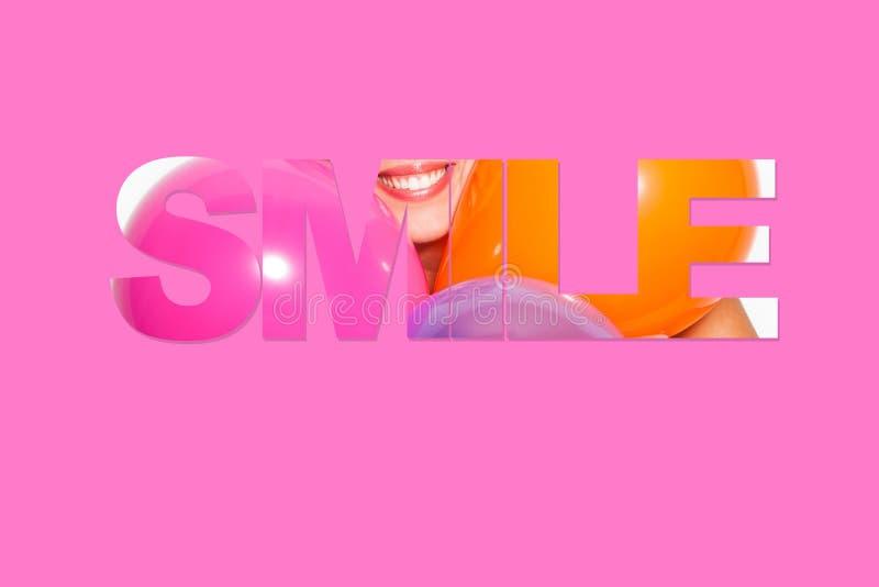 Piękny uśmiechu motto obrazy stock