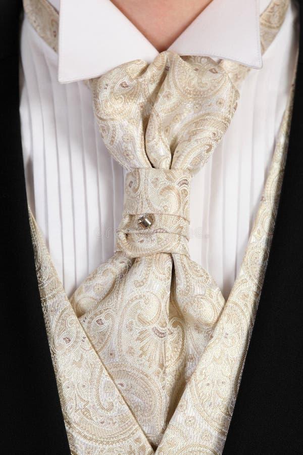 piękny uroczysty odziany kryształu światła krawat obraz royalty free