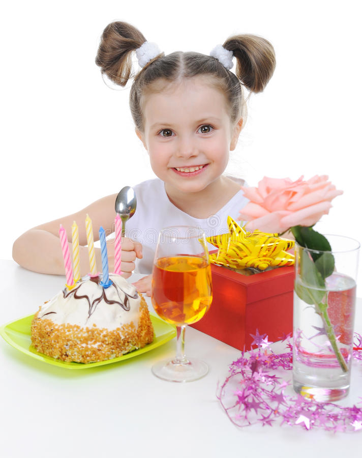 piękny urodziny świętuje dziewczyny trochę obrazy royalty free