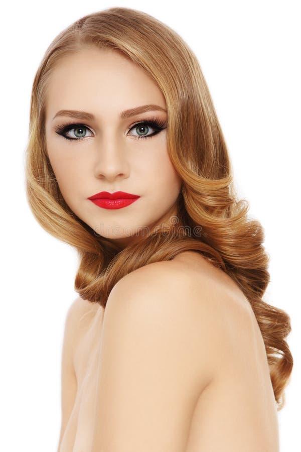 Piękny włosy fotografia stock