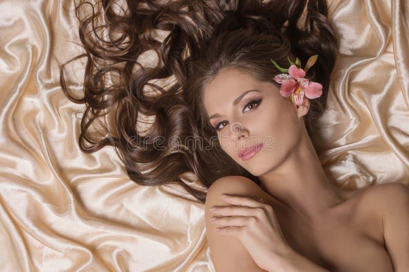 Piękny włosy. obrazy royalty free