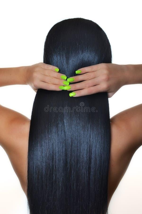 Piękny włosy zdjęcia royalty free