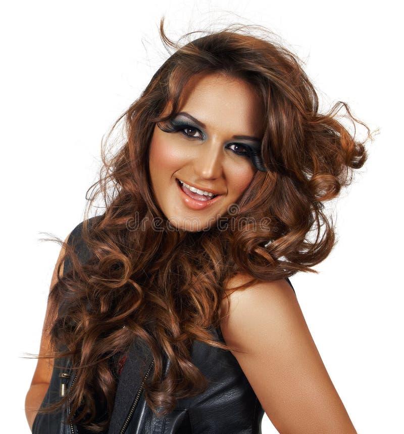 piękny włosy tęsk kobieta obraz stock