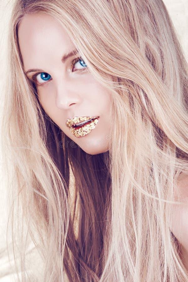 piękny włosy tęsk kobieta obraz royalty free