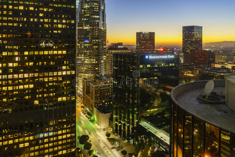 Piękny w centrum pejzaż miejski Los Angeles fotografia stock