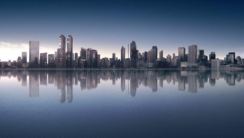 Piękny widok śródmieście z nowożytną architekturą zdjęcie stock
