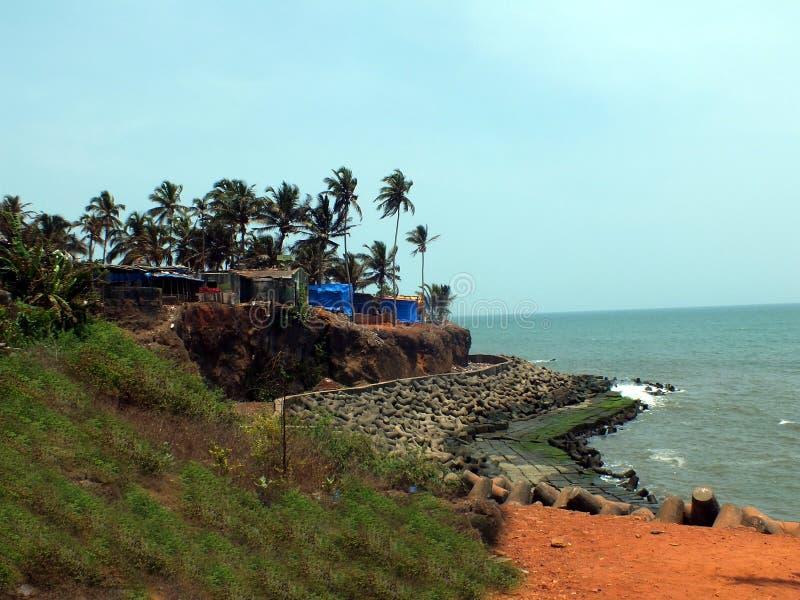 Piękny widok Anjuna plaża, Goa obrazy stock