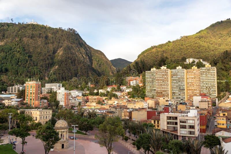 Piękny widok Bogota obrazy stock