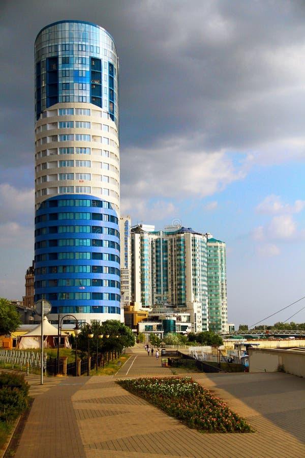 Piękny widok budynek w mieście Krasnodar zdjęcie royalty free