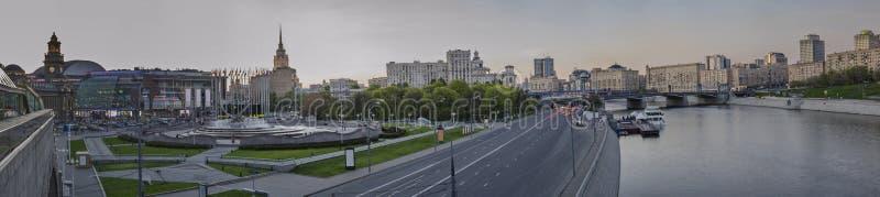 Piękny widok evening Moskwa obrazy stock