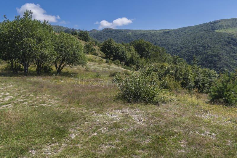 Piękny widok górski od Troyan przepustki Troyan Bałkański jest wyjątkowo malowniczy i oferuje kombinację cudowny obraz stock