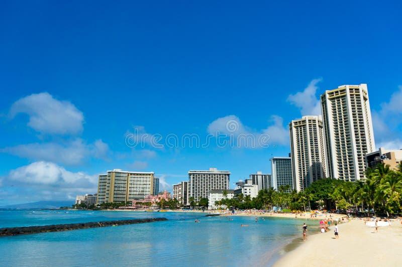 Piękny widok Honolulu, Hawaje obraz stock