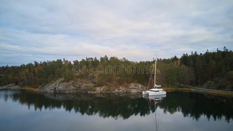 Piękny widok klasyczni szwedzi kształtuje teren z góry obrazy stock