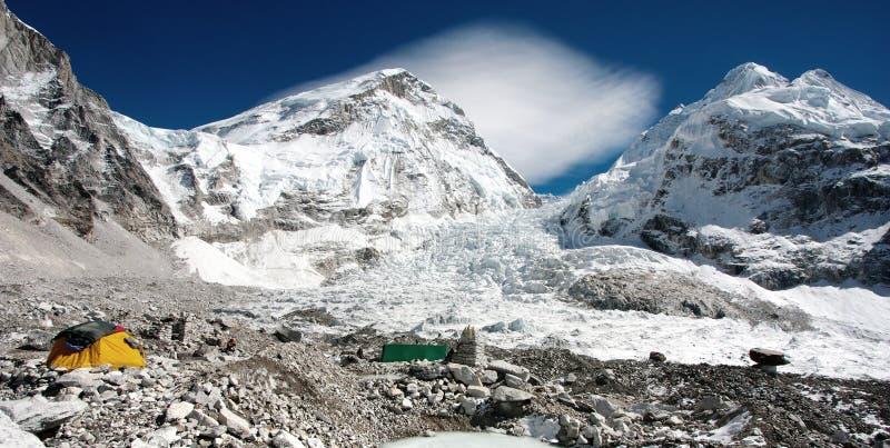 Widok Mt Everest podstawowy obóz zdjęcia stock