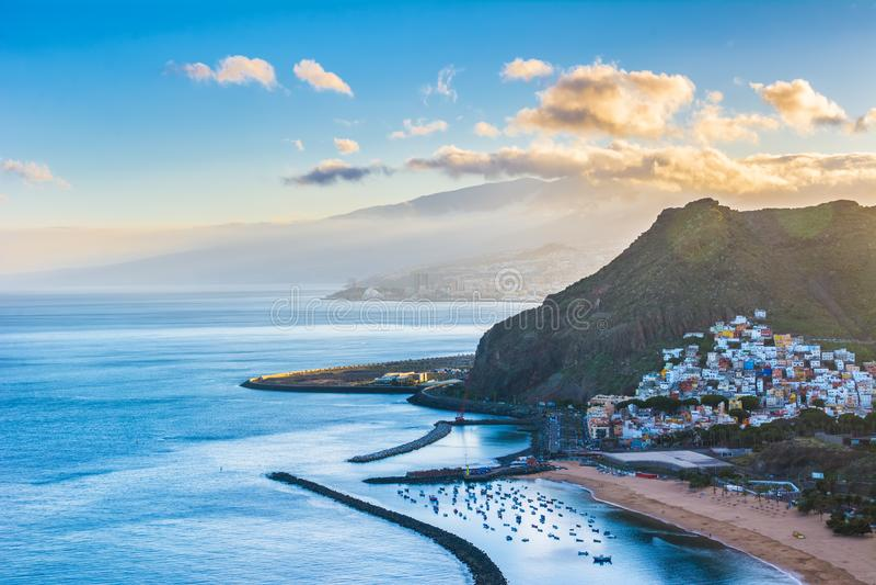 Piękny widok na San Andres blisko Santa Cruz de Tenerife w zdjęcia royalty free