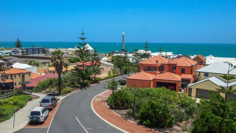 Piękny widok nad Bunbury w zachodniej australii na pogodnym letnim dniu fotografia stock