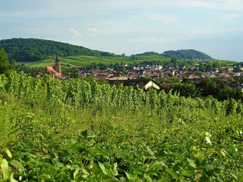 Piękny widok nad miasteczkiem Rauenberg fotografia stock