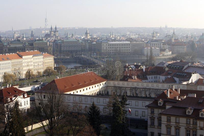 Piękny widok nad Praga zdjęcie royalty free