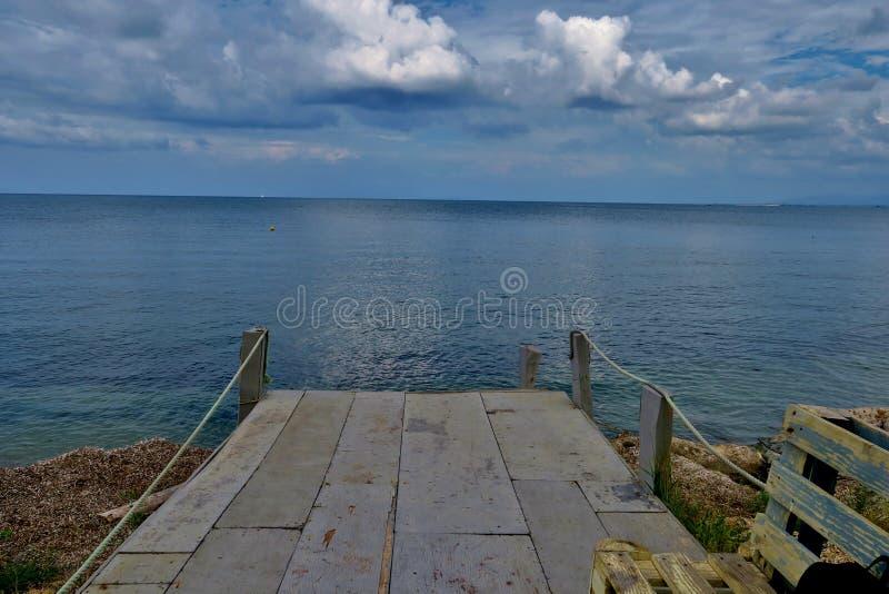 Piękny widok niekończący się morze zdjęcie royalty free