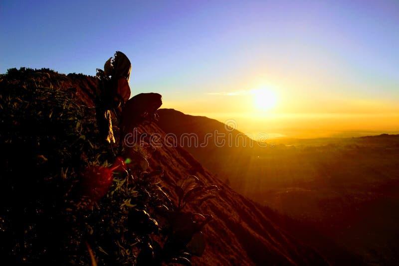 Piękny widok od andong góry, Magelang, Indonezja zdjęcie stock
