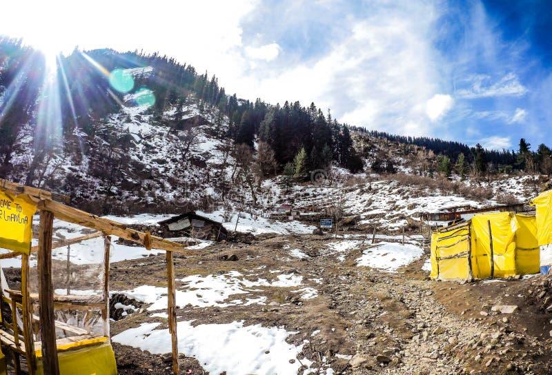 Piękny widok Parvati dolina obraz stock