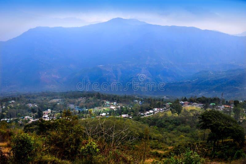 Piękny widok Pedong w Kalimpong okręgu Zachodni Bengalia, India obrazy stock