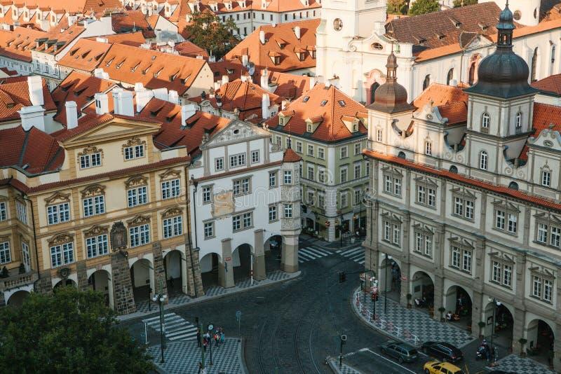 Piękny widok pejzaż miejski w Praga w republika czech zdjęcie stock