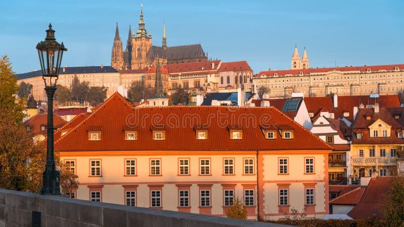 Piękny widok Praga kasztel cesky krumlov republiki czech miasta ?redniowieczny stary widok obraz stock