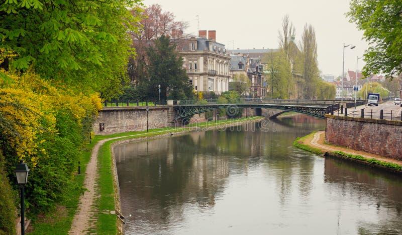 Piękny widok Strasburski miasto fotografia royalty free