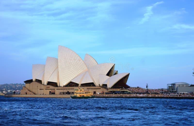 Piękny widok Sydney opera, Australia fotografia stock