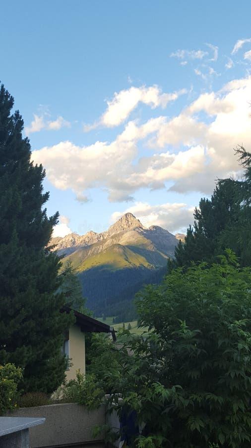 Piękny widok w Engadin zdjęcie royalty free