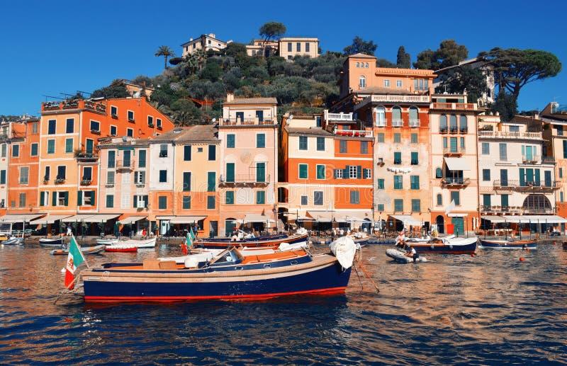Piękny widok w Portofino obraz stock