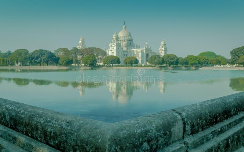 Piękny widok Wiktoria pomnik, Kolkata, Calcutta, Zachodni Bengalia, India zdjęcia royalty free