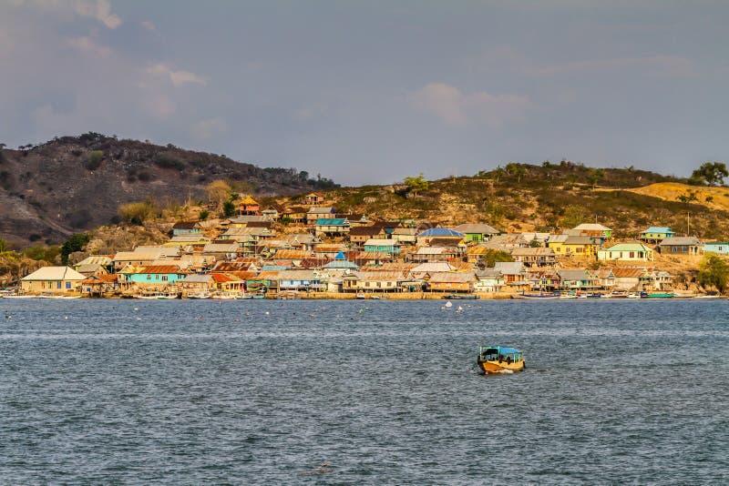 Piękny widok wioska na Indonezja obrazy royalty free