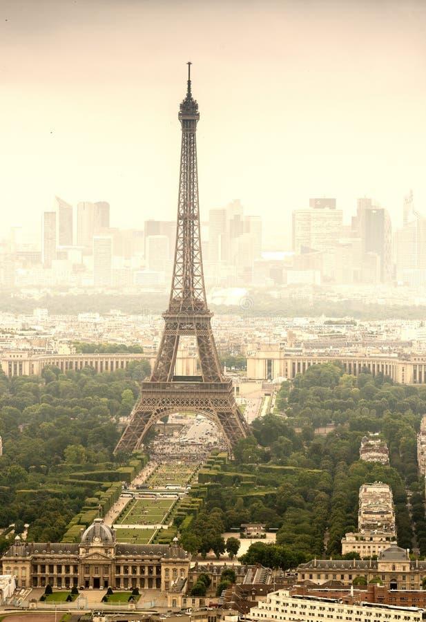Piękny widok wycieczka turysyczna Eiffel Paris wieżę eiffel France zdjęcie stock