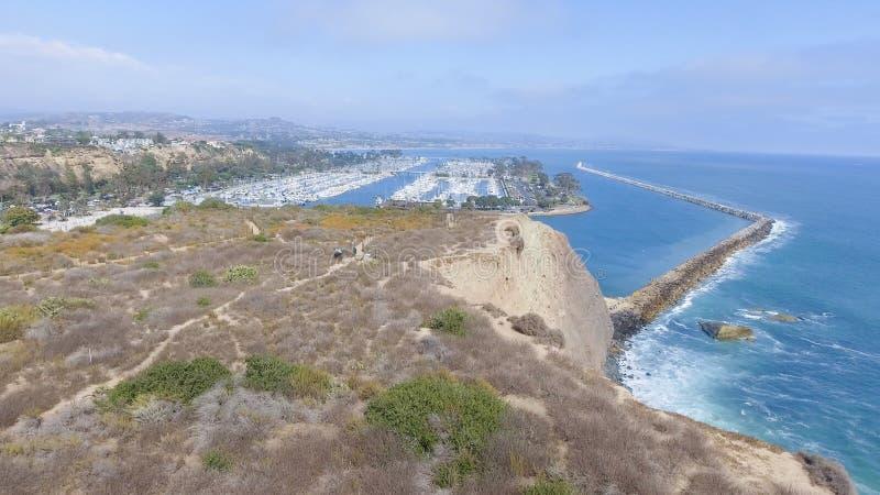 Piękny widok z lotu ptaka Kalifornia linia brzegowa obrazy royalty free