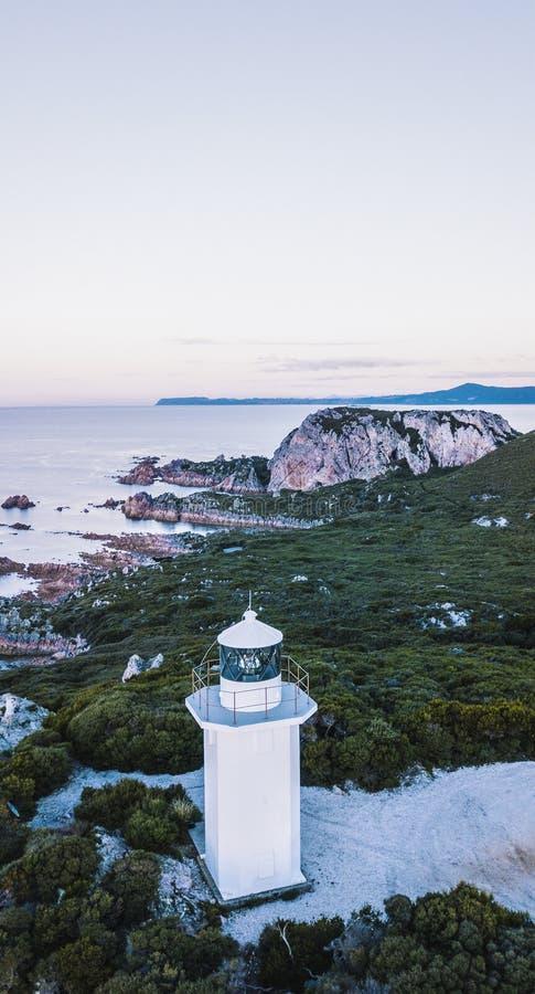 Piękny widok z lotu ptaka Skalisty przylądek, Tasmania obraz stock