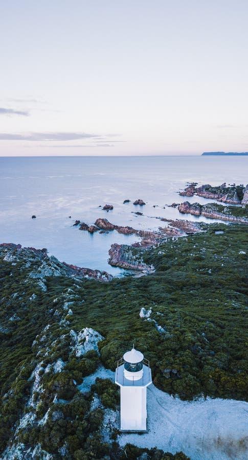 Piękny widok z lotu ptaka Skalisty przylądek, Tasmania fotografia stock