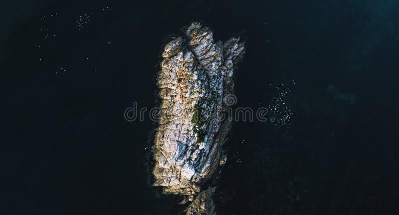 Piękny widok z lotu ptaka Skalisty przylądek, Tasmania obrazy royalty free