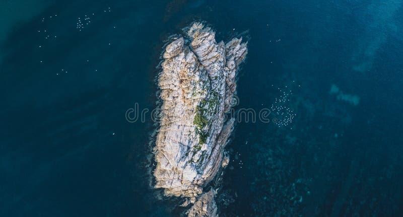 Piękny widok z lotu ptaka Skalisty przylądek, Tasmania obrazy stock