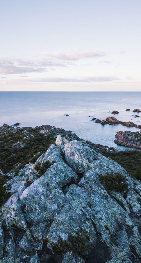 Piękny widok z lotu ptaka Skalisty przylądek, Tasmania zdjęcie stock