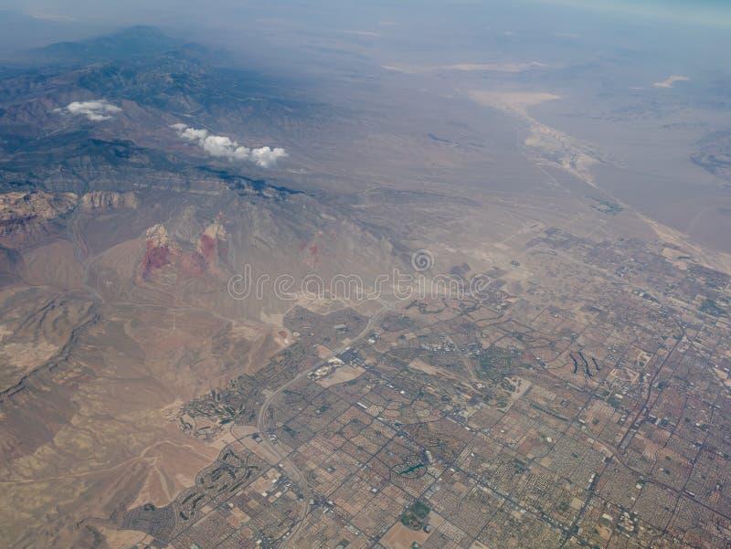 Piękny widok z lotu ptaka strzelający od samolotu obrazy royalty free