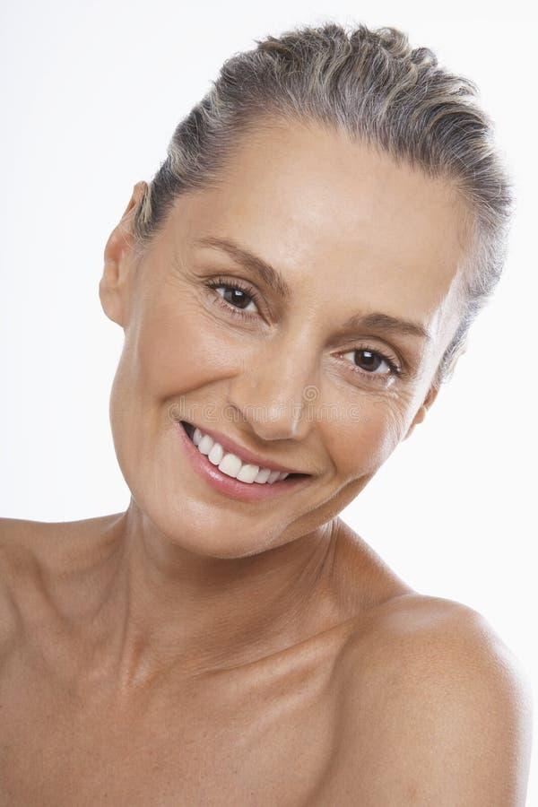 Piękny wiek średni kobiety ono Uśmiecha się zdjęcie stock
